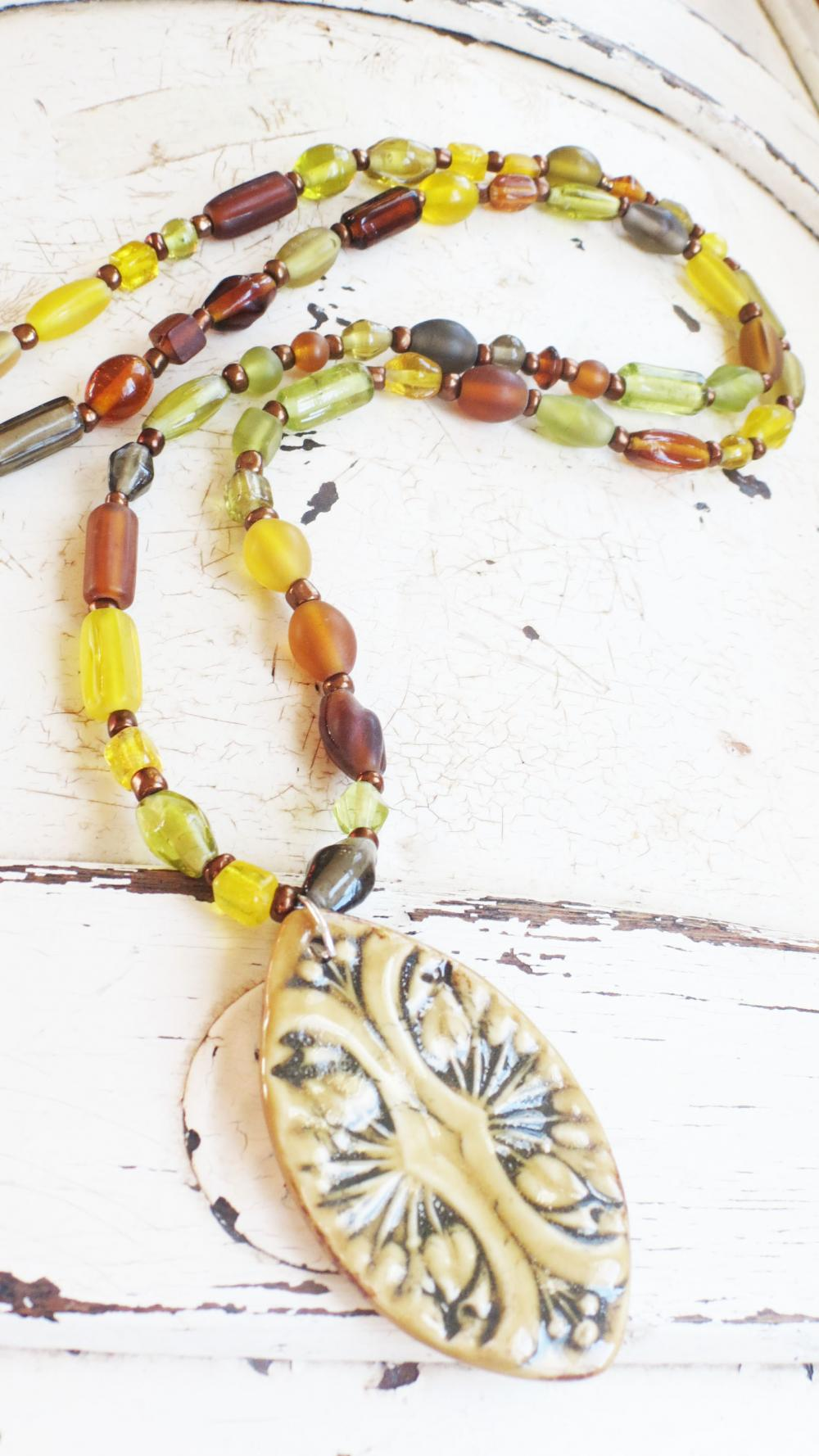 Autumn leaf necklace